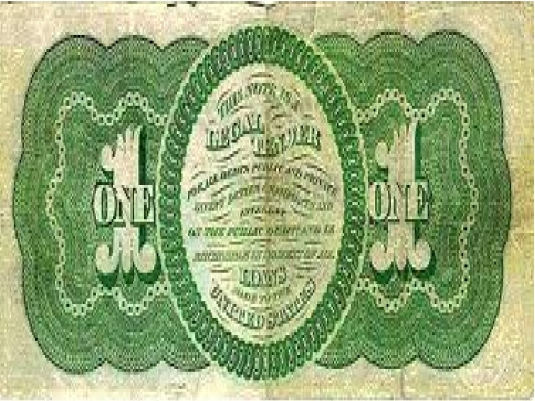 greenback dollar 1862 - 1a