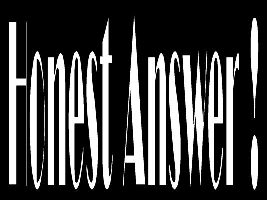 honest answer 1