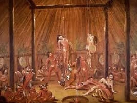 Mandan piercing ritual 2a