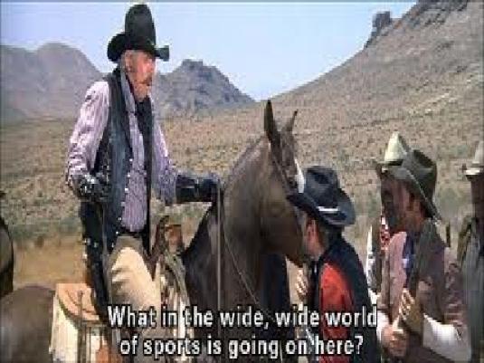 slim Pickens blazing saddles