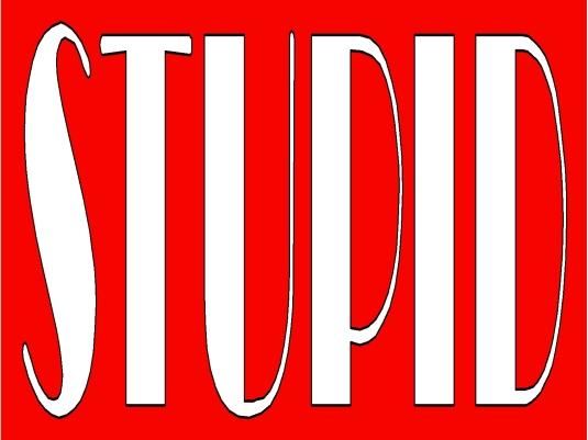 stupid - red