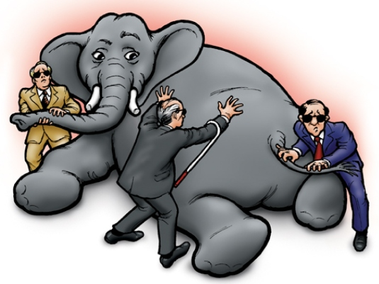 elephant to a blind man 1a