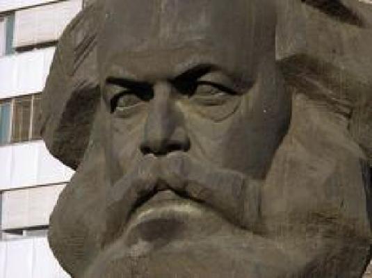 Karl Marx in stone