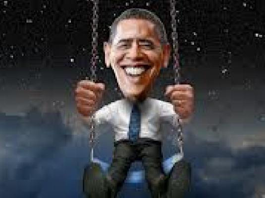 Obama on a swing 1a