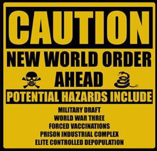 caution one world order ahead