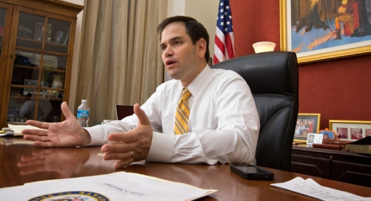 Marco Rubio at work