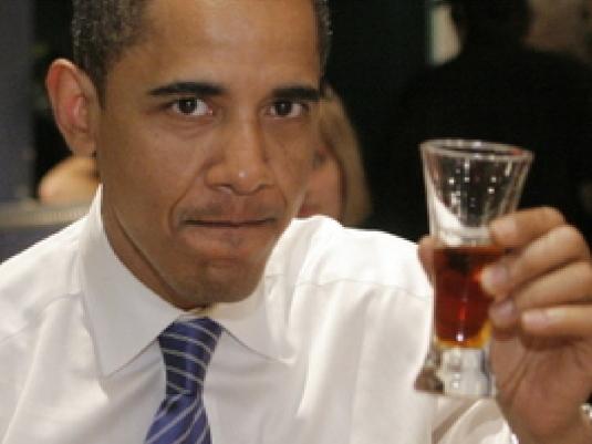 Obama drinking 2