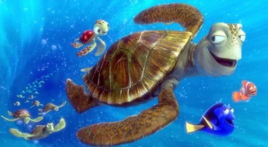 turtle in the deep blue sea 1