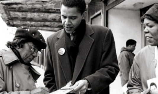 Barack Obama community organize