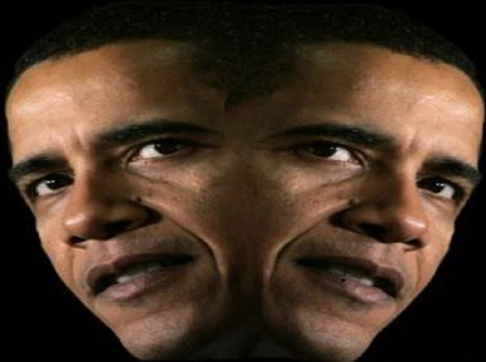 Barack Obama two-faced 1