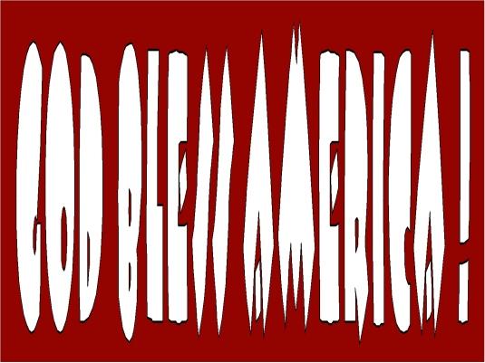God bless America - dark red