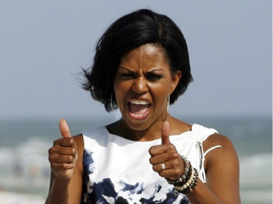 Michelle Obama - thumbs Up 1a