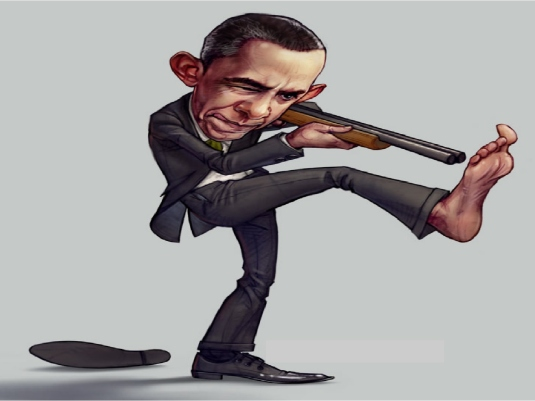 Obama shoots foot 1a