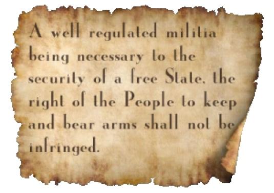 Second Amendment on parchment