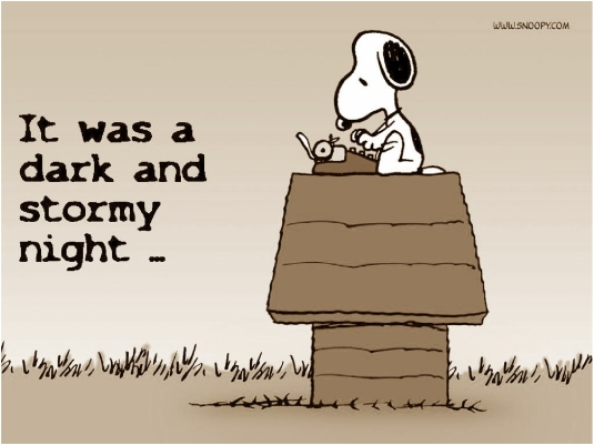 Snoopy dark and gloomy night 4