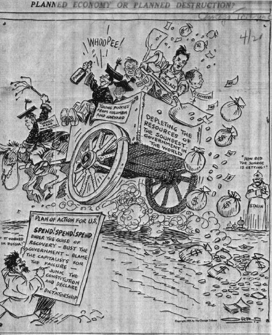 1934 Chicago Tribune Cartoon 1