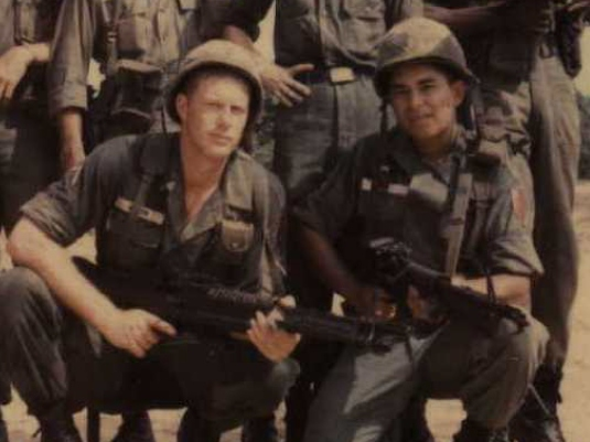 Ed and Chuck in Vietnam 1a