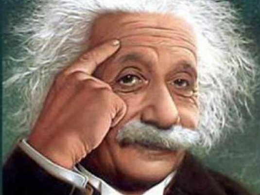Albert Einstein - looking at li