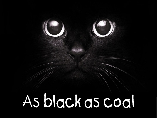as black as coal