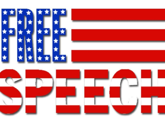 freedom of speech - red white a