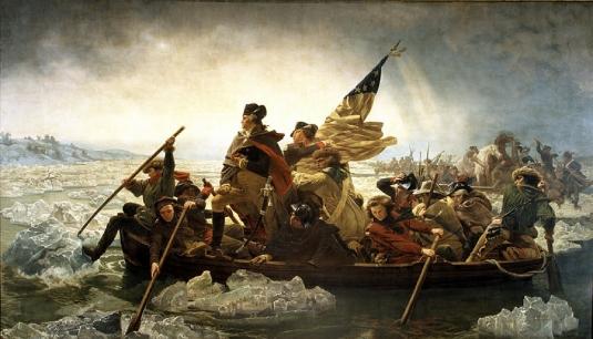 George Washington crossing the