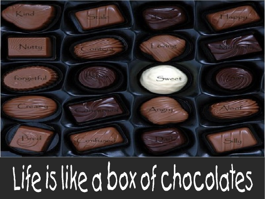 life is like a box of chocolate 1a