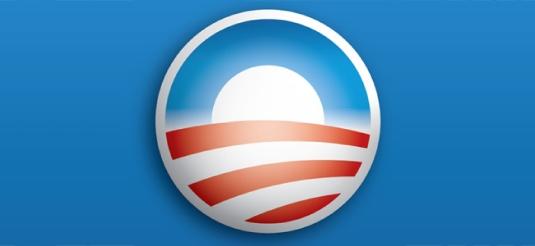 Obama logo - blue