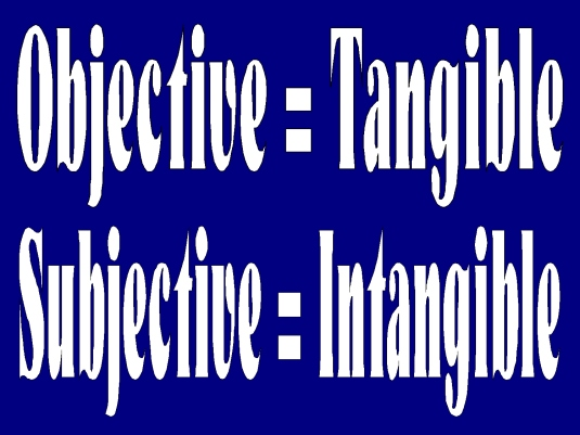 objective versus subjective 1