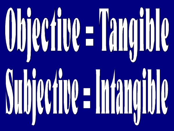 Image result for objective vs subjective reality