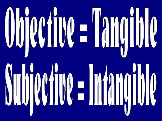 objective versus subjective 1