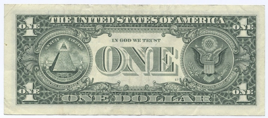 one dollar bill back 1