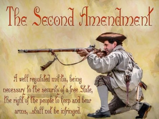 Second Amendment with rifle man 2