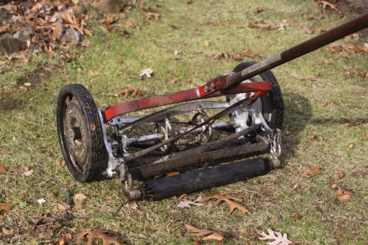 Side-whell reel mower 2