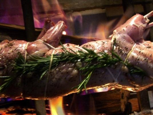 spit roasted rabbit 1