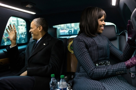 Barack and Michelle limousine 1