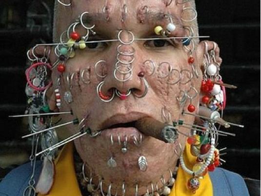 body piercing - face 1a