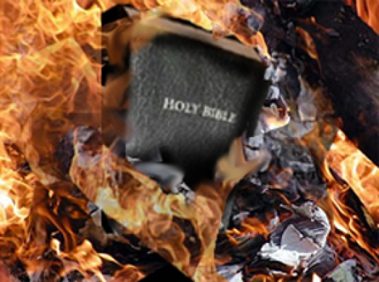 burning the Bible 1