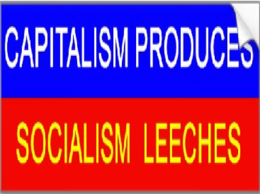 capitalism 2  produces - red and b