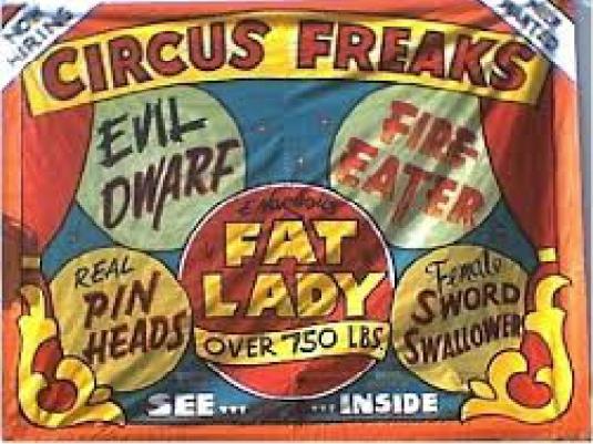Carnival freaks banner 1