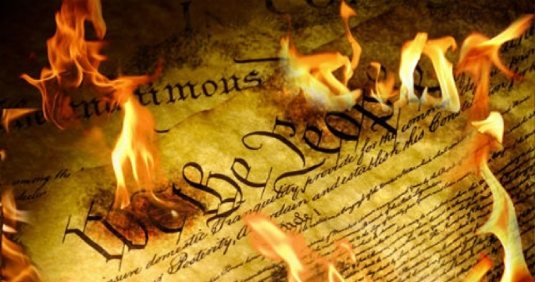 Constitution burning 1