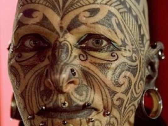 face tattoo 1a