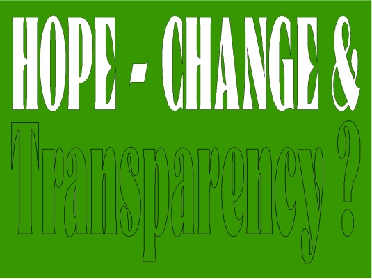Hope change in transparency 1A