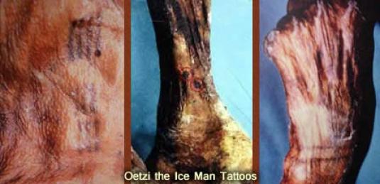 Oetzi - mummy tattoos 2