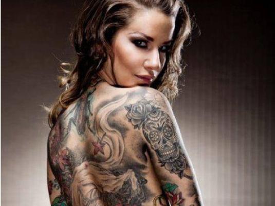 tattooed biker chick 1a