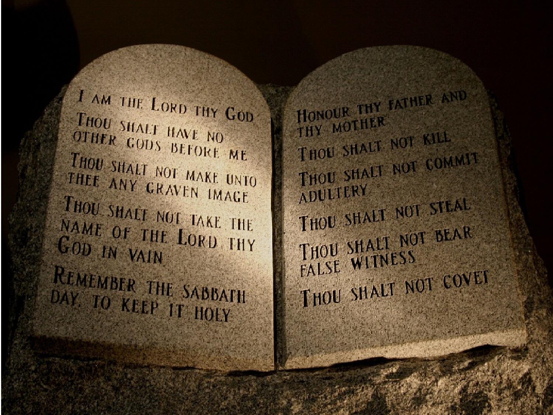 10 Commandments List