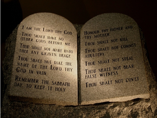 10 Commandments - in stone 1a