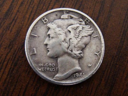1941 liberty dime 1a