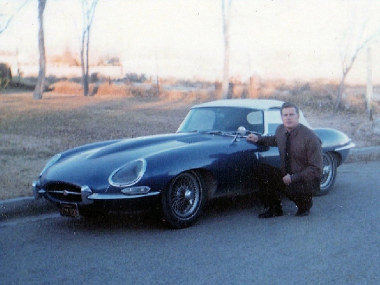 1966 Jaguar convertible and me