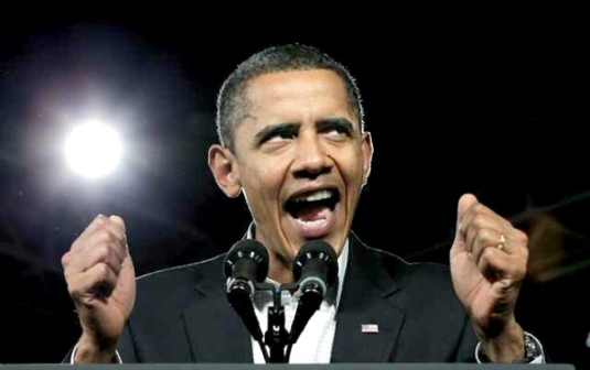Barack Obama - angry2  crazed Phi