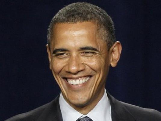 Barack Obama - grinnin 1a
